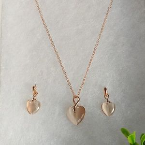 Jewelry - NEW Handpicked Necklace Set | Opal Rose Gold Heart